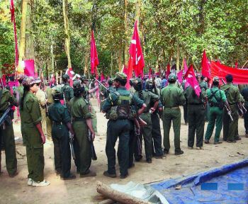 naxalites-gathered-at-the-venue-of-the-cpi-maoists-ninth-congress-at-an-undisclosed-place-in-chhattisgarh